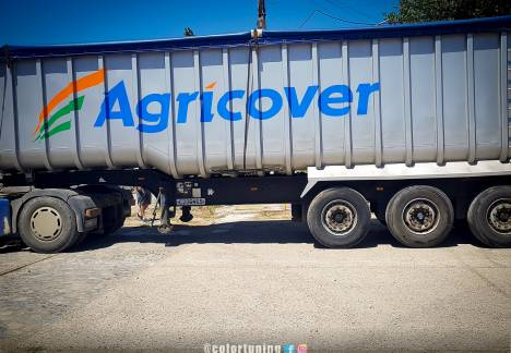 inscriptionare camion agricover