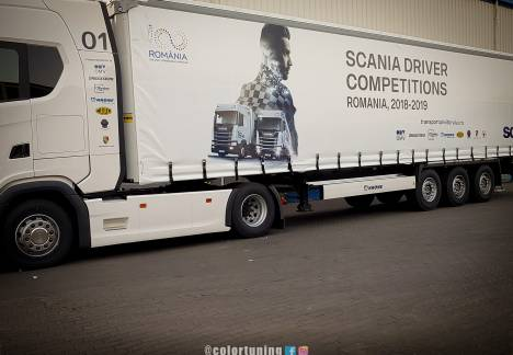 inscriptionare prelata tir scania